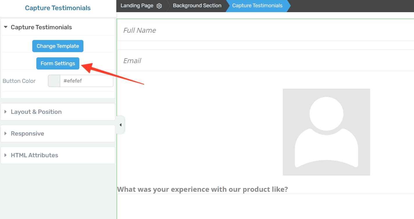 click-on-form-settings