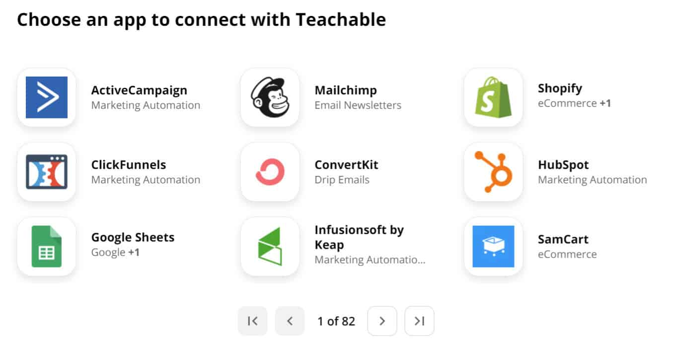 integrations-in-teachable